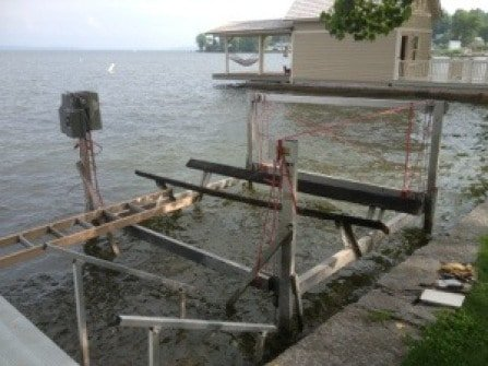 Regular boat lift maintenance is important.