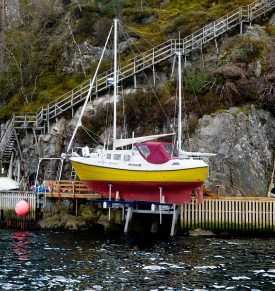 Why Buy a Boat Lift? - image Sailboat-elevator-Norway on https://www.iqboatlifts.com