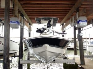 Boathouse Lifts Gallery - image boathouse-hanger-bracket-4-300x225 on https://www.iqboatlifts.com