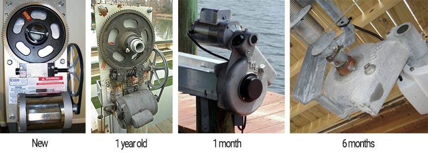 boat lift drives over time