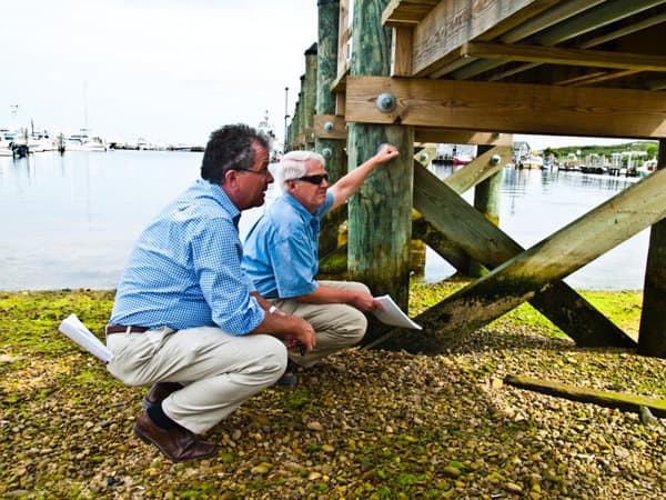How to Prepare your Boat and Dock for Hurricane Season - image Have-Your-Dock-Inspected on https://www.iqboatlifts.com