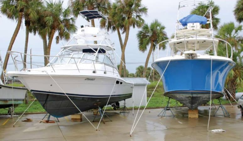 How to Prepare your Boat and Dock for Hurricane Season - image Make-Sure-Your-Boat-is-Stored-Properly on https://www.iqboatlifts.com