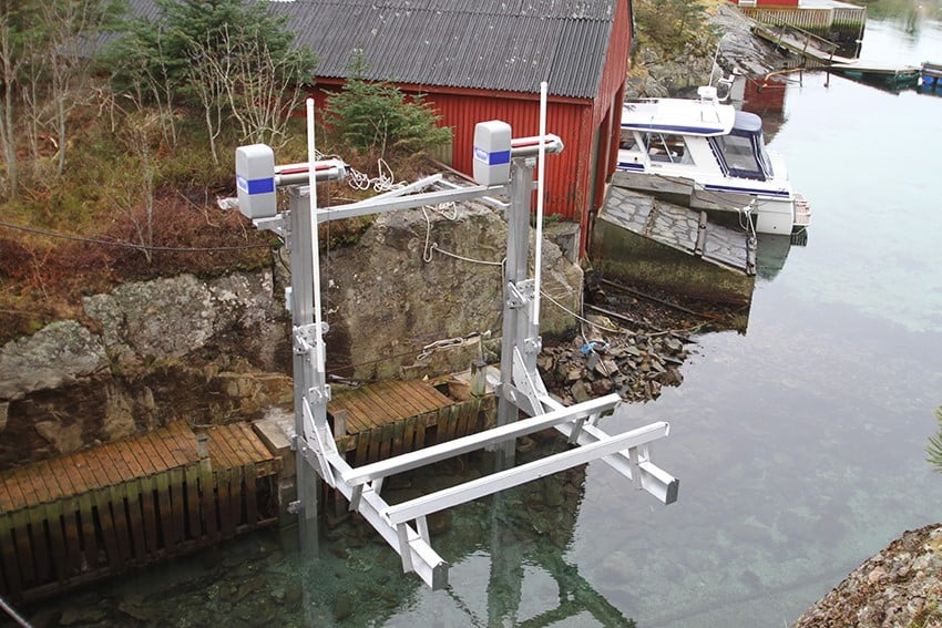 Marine Boatlifts at Haugesund Boat Show in Norway - image boat-lift-imm on https://www.iqboatlifts.com