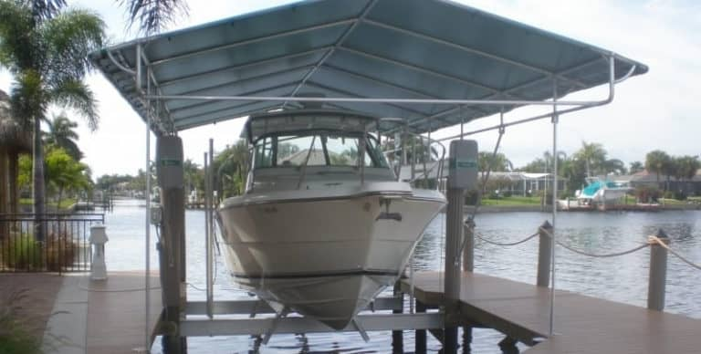 Don't Ignore These Five Factors When Buying Your Next Boat Lift - image Extend-The-Life-Of-Your-Boat-Lift-Canopy-1-768x388 on https://www.iqboatlifts.com