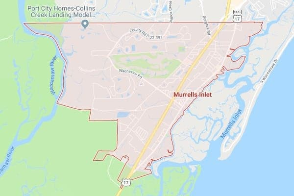 Boat Lifts in Lake Murrells Inlet SC Map