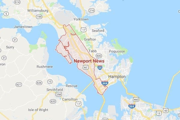 Boat Lifts in Newport News VA Map
