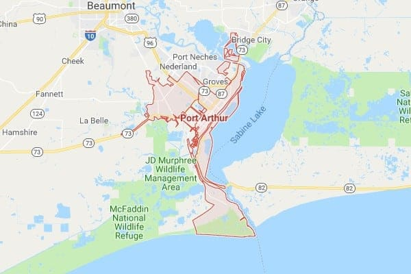 Boat Lifts in Port Arthur TX Map