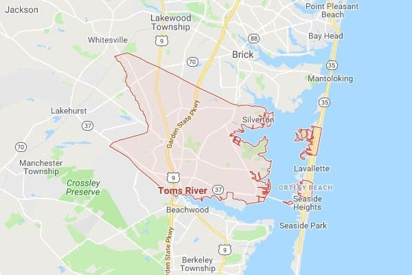 Boat Lifts in Toms River NJ Map