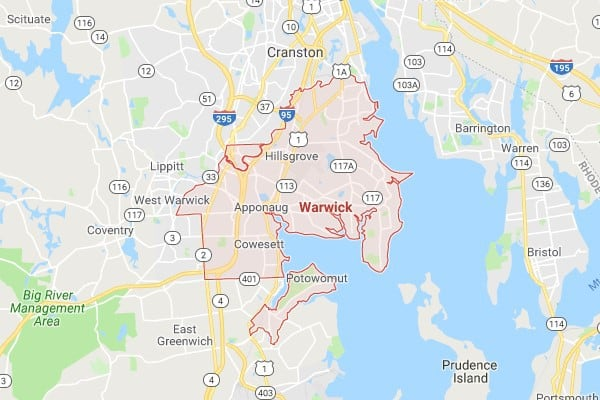 Boat Lifts in Warwick RI Map