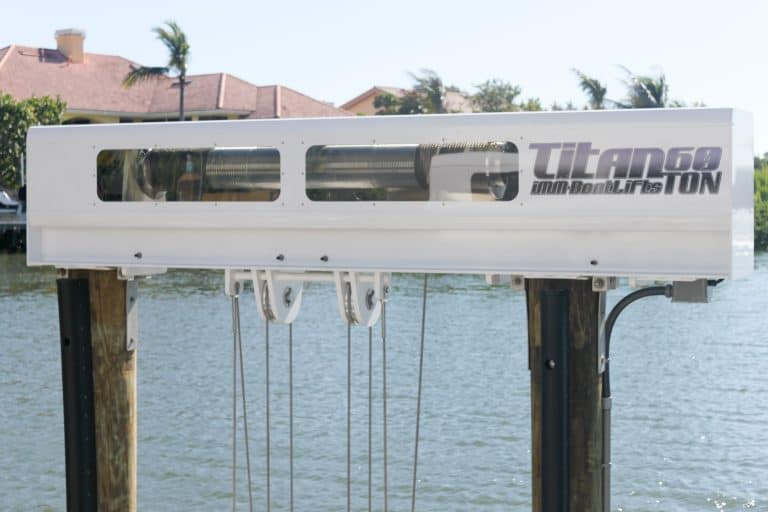 Don't Ignore These Five Factors When Buying Your Next Boat Lift - image patented-technology-Titan-Beam-768x512 on https://www.iqboatlifts.com