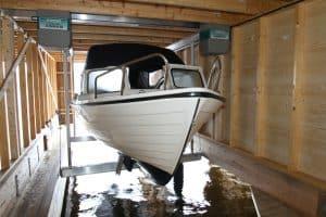 Boathouse Lifts Gallery - image Alumavator-in-Boathouse-2-300x200 on https://www.iqboatlifts.com
