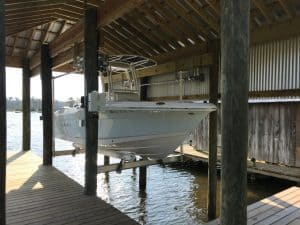 Boathouse Lifts Gallery - image 7K-Boathouse-Platinum-Robalo-Lift-Solutions-300x225 on https://www.iqboatlifts.com