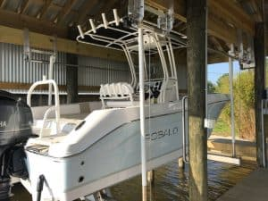 Boathouse Lifts Gallery - image 7K-Boathouse-Platinum-Robalo-Lift-Solutions2-300x225 on https://www.iqboatlifts.com
