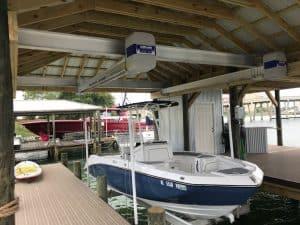 Boathouse Lifts Gallery - image Boathouse-suspension-bracket-3-300x225 on https://www.iqboatlifts.com