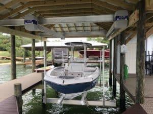 Boathouse Lifts Gallery - image Boathouse-suspension-bracket-300x225 on https://www.iqboatlifts.com