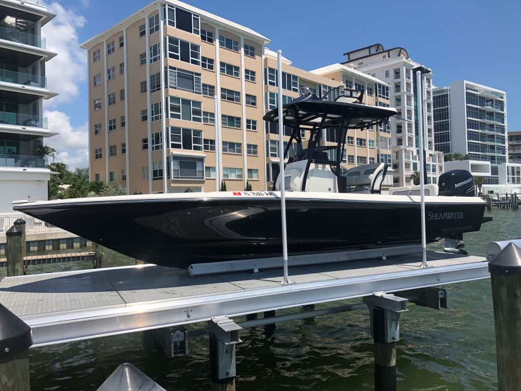 Custom Retractable Bridge on the Florida Keys - image Decked-6-1024x768 on https://www.iqboatlifts.com