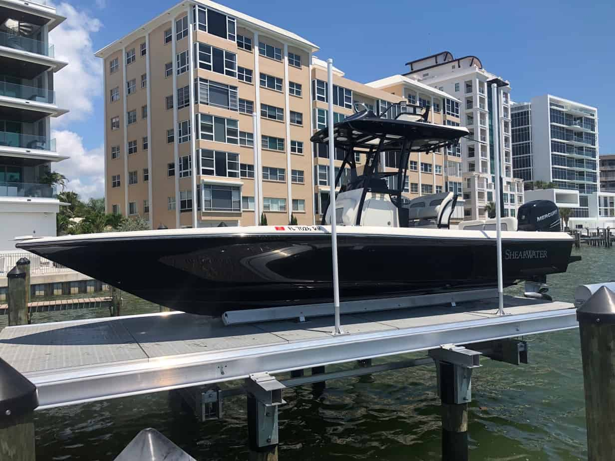 Boat Lift Innovation That Will Make Your Life Easier - image Decked-6 on https://www.iqboatlifts.com