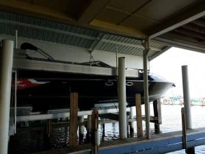 Boathouse Lifts Gallery - image Superlift-Diversion-custom-bunks-6-300x225 on https://www.iqboatlifts.com