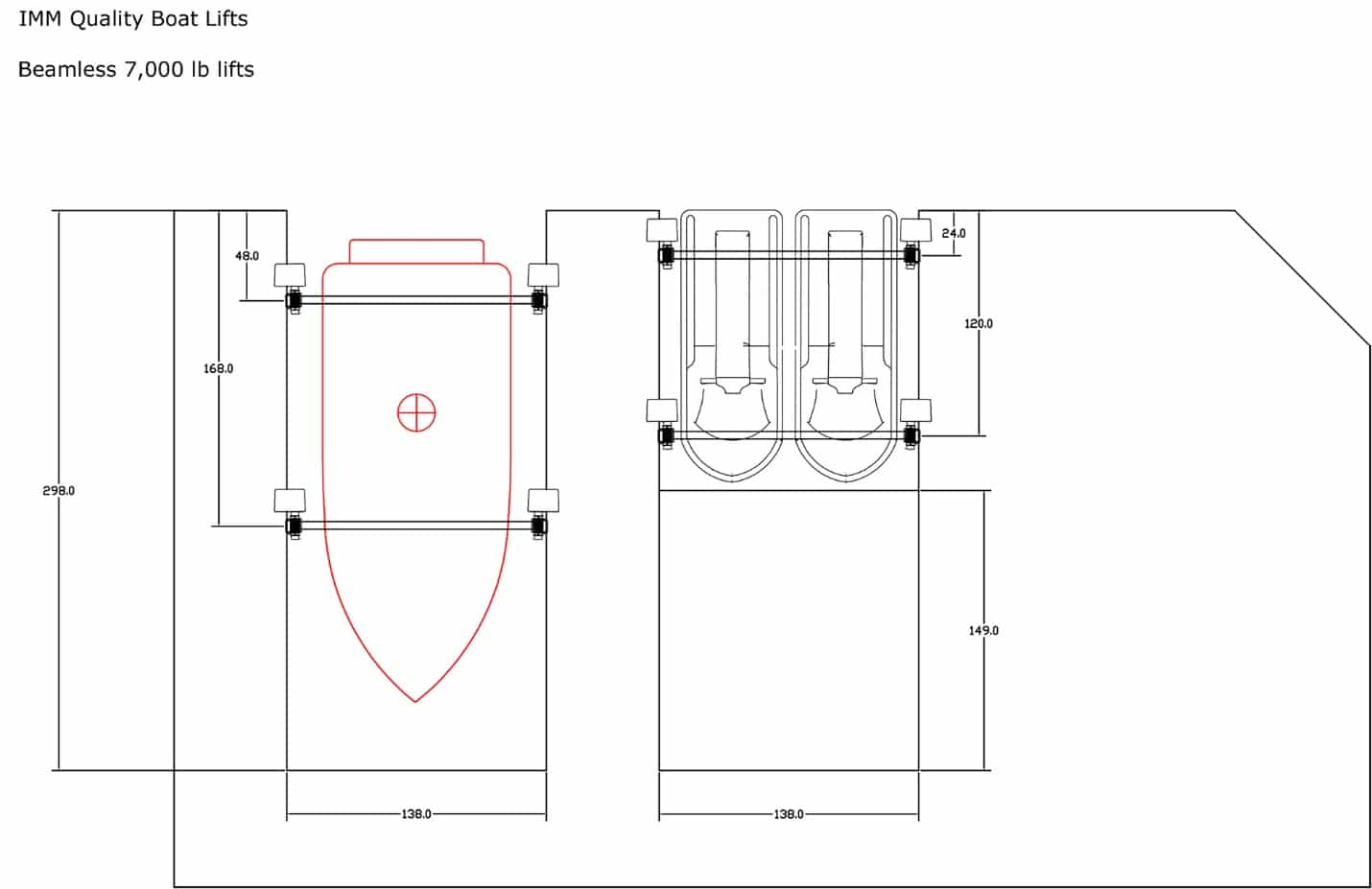 Drawn Up Plans Of Beamless Boat Lift