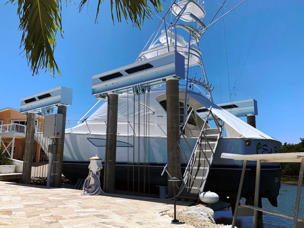 Boat Lift Build For A Yacht That Will Last A Life Time