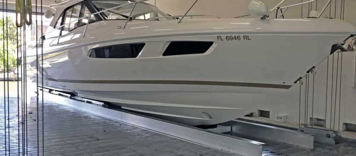 Construction of a Nautical Boat Garage | IMM Quality Boat Lifts